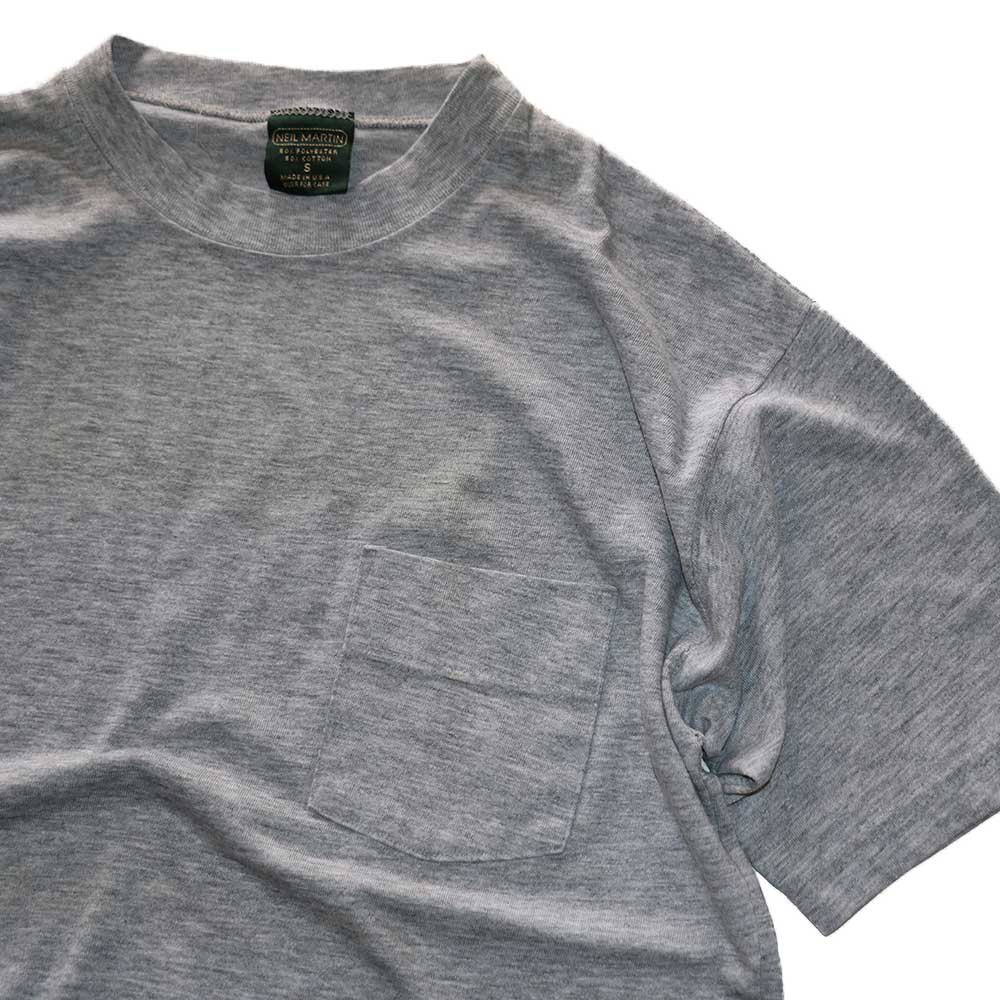 w-means(ダブルミーンズ) NEIL MARTIN 50/50 半袖ポケットTシャツ  表記S(Made in U.S.A.)Gray 詳細画像3