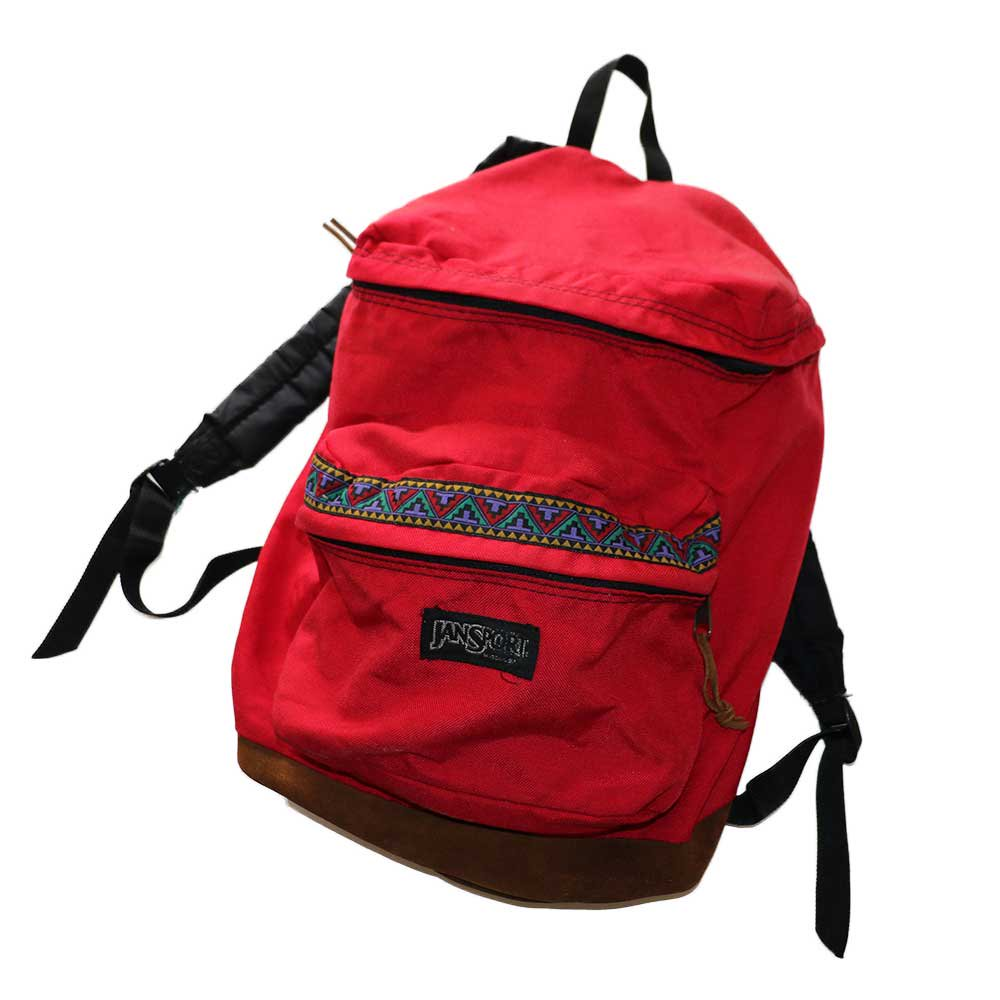 w-means(ダブルミーンズ) JANSPORT ナイロンバックパック(Made in U.S.A.)表記なし  Native Red 詳細画像1