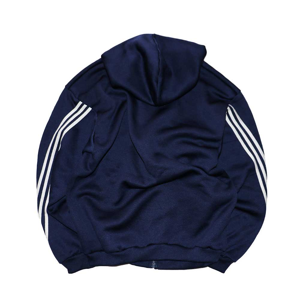 w-means(ダブルミーンズ) adidas ポリエステルフルジップフードパーカ(Made in U.S.A.)表記L  D.Navy 詳細画像2