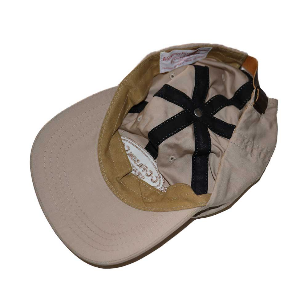 w-means(ダブルミーンズ) FILSON  ナイロンキャップ(Made in U.S.A.)表記L/XL  Sand-beige 詳細画像2