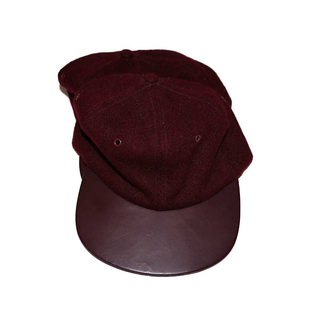 w-means(ダブルミーンズ) BRONER WOOL CAP (Made in U.S.A.)one size fits all  Burgundy 詳細画像