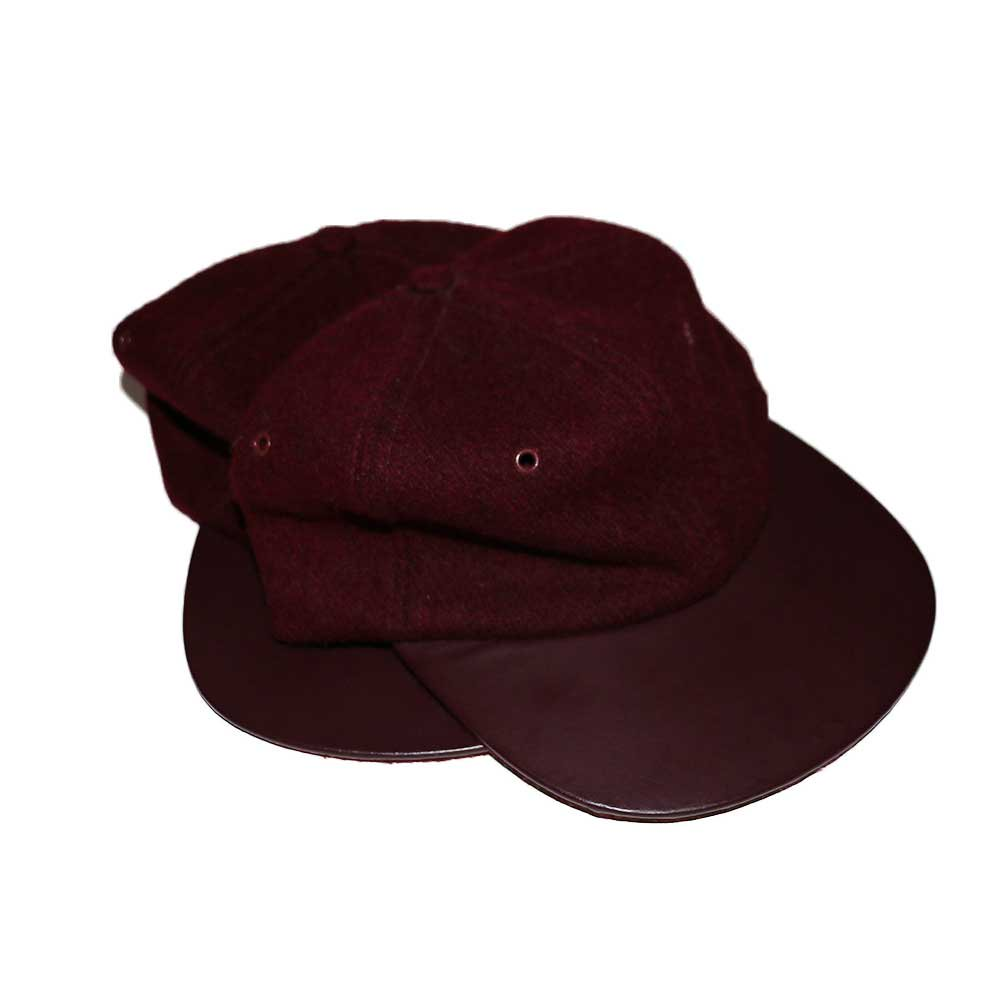 w-means(ダブルミーンズ) BRONER WOOL CAP (Made in U.S.A.)one size fits all  Burgundy 詳細画像1