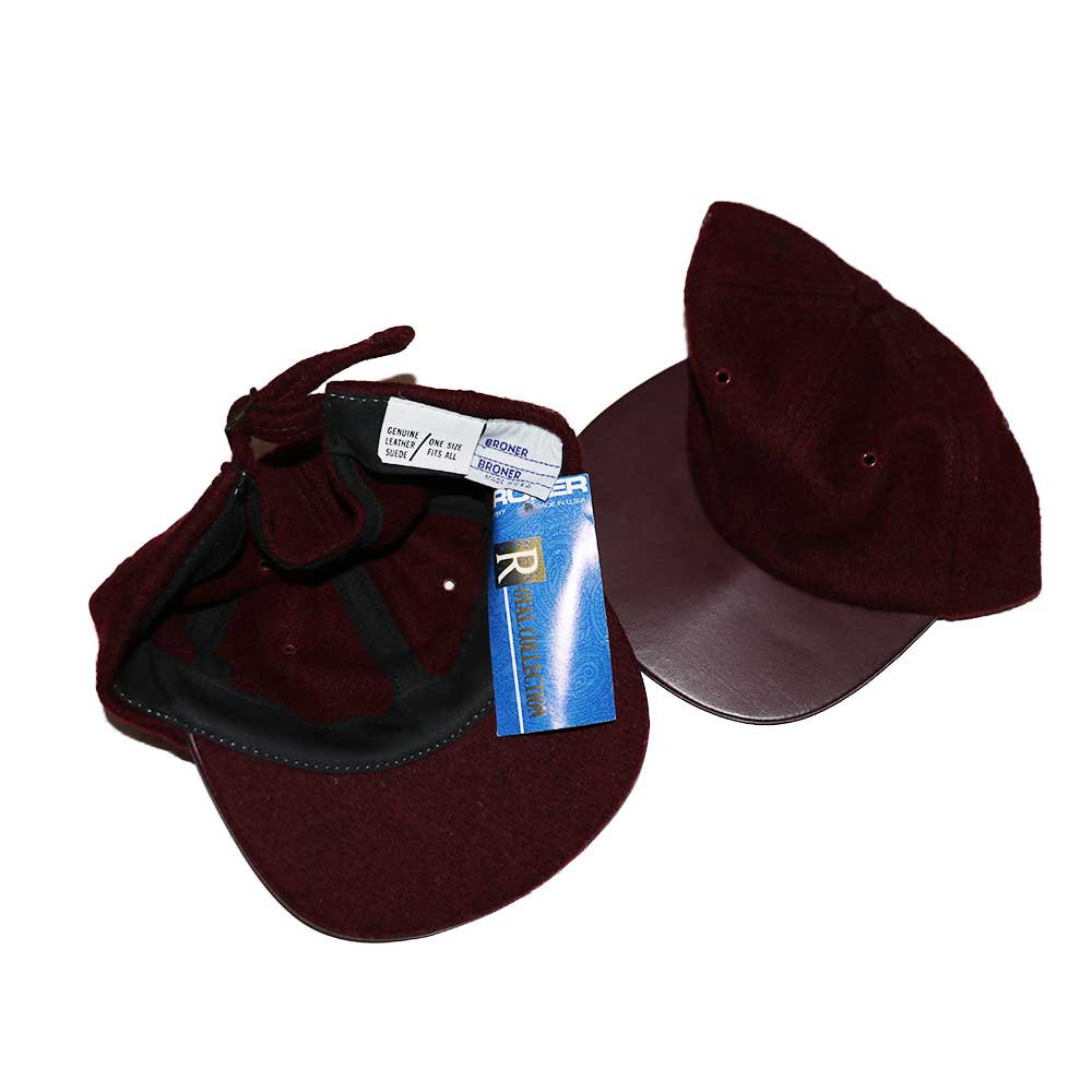 w-means(ダブルミーンズ) BRONER WOOL CAP (Made in U.S.A.)one size fits all  Burgundy 詳細画像2
