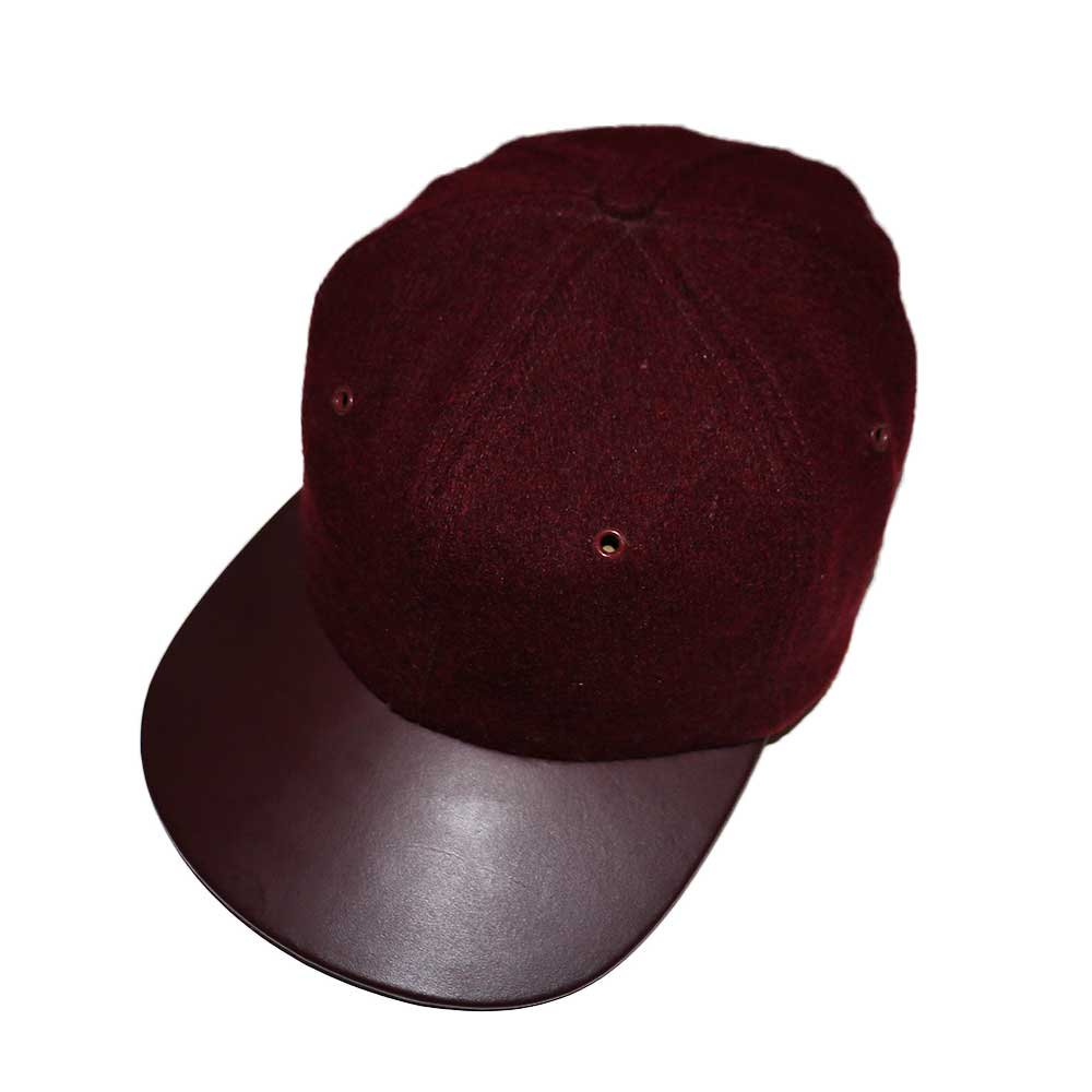 w-means(ダブルミーンズ) BRONER WOOL CAP (Made in U.S.A.)one size fits all  Burgundy 詳細画像4