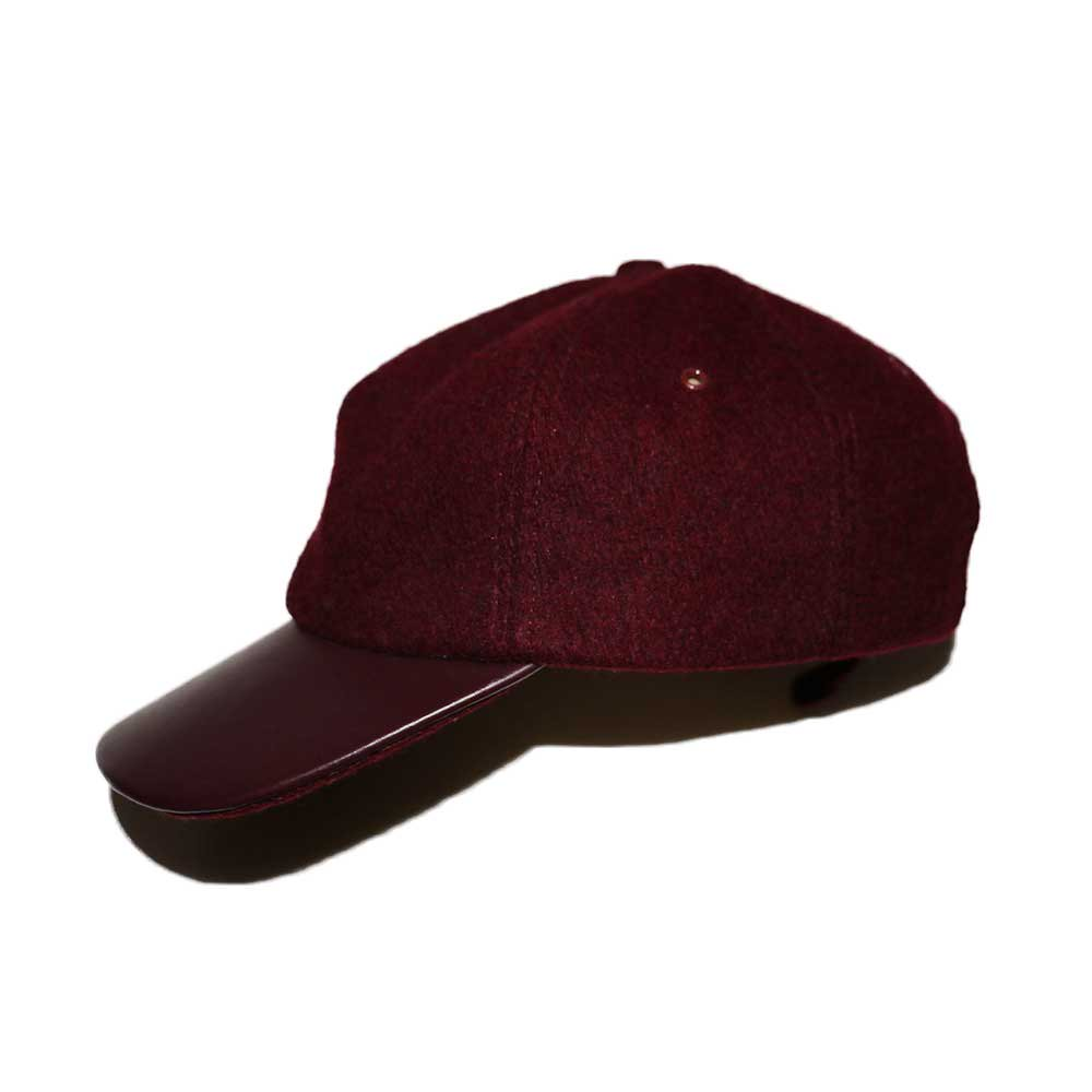 w-means(ダブルミーンズ) BRONER WOOL CAP (Made in U.S.A.)one size fits all  Burgundy 詳細画像5