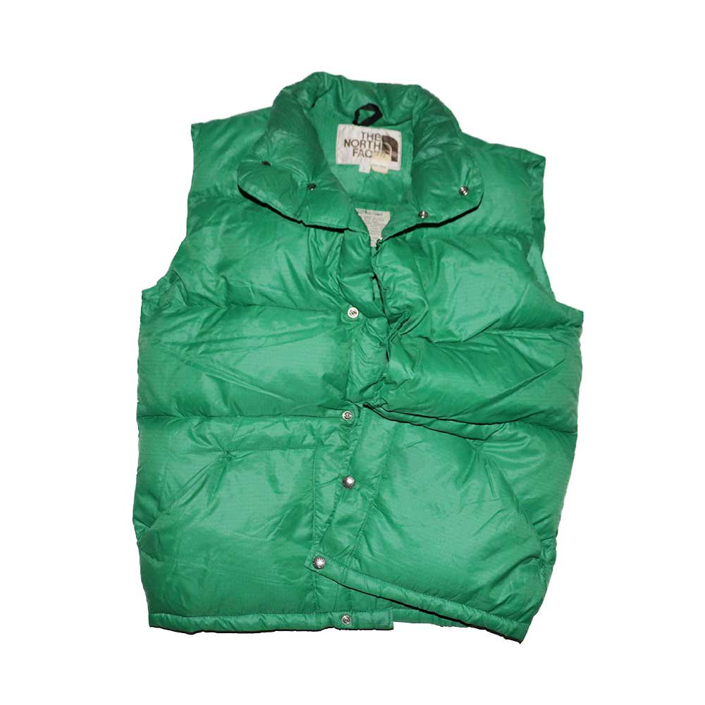 w-means(ダブルミーンズ) 80's THE NORTH FACE  ダウンベスト (Made in U.S.A.)表記L  Green 詳細画像