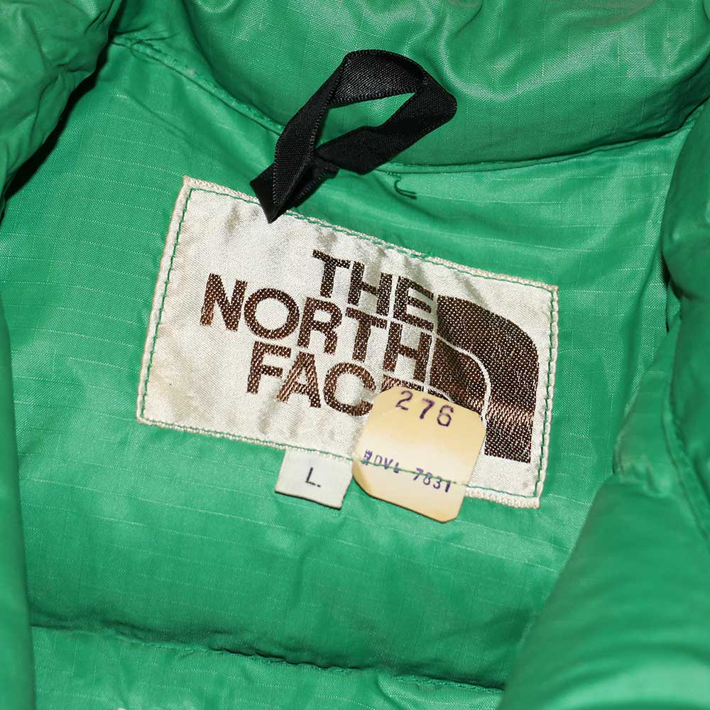 w-means(ダブルミーンズ) 80's THE NORTH FACE  ダウンベスト (Made in U.S.A.)表記L  Green 詳細画像2