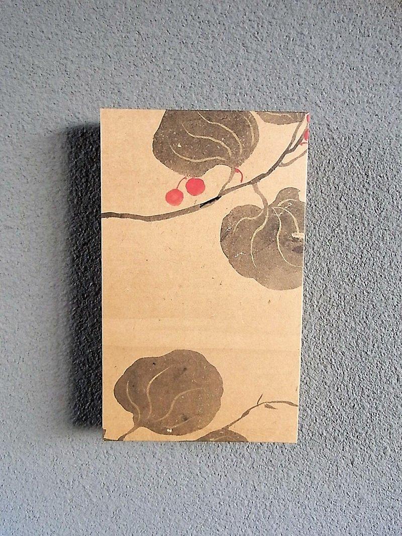 Masaオリジナル時代屏風パネル🄬18 117 3 琳派野花図