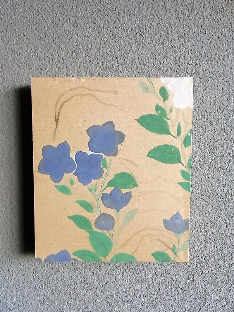 Masaオリジナル時代屏風パネル ® 18 117 2 琳派野花図
