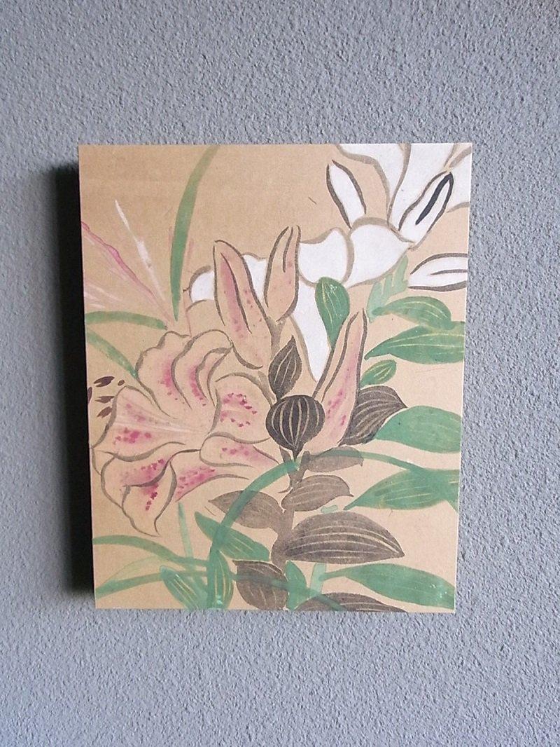 Masaオリジナル時代屏風パネル ® 18 117 10 琳派野花図