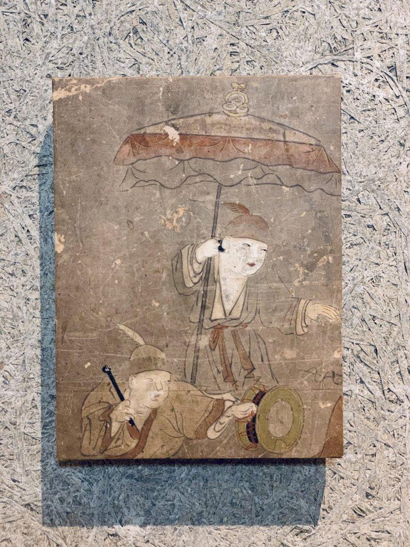 Masaオリジナル時代屏風パネル ® 18 121 6 狩野派唐子遊景図