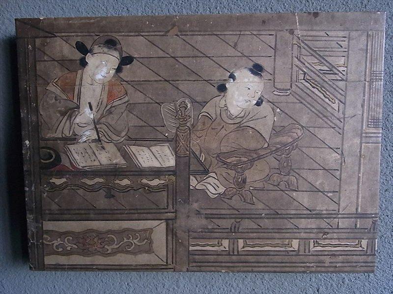 Masaオリジナル時代屏風パネル ® 18 121 11 狩野派唐子遊景図