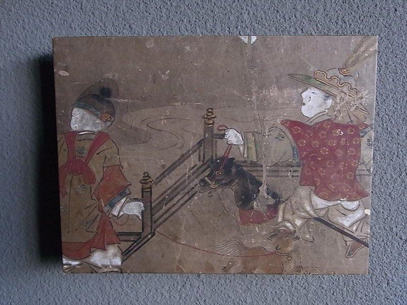 Masaオリジナル時代屏風パネル ® 18 121 12 狩野派唐子遊景図