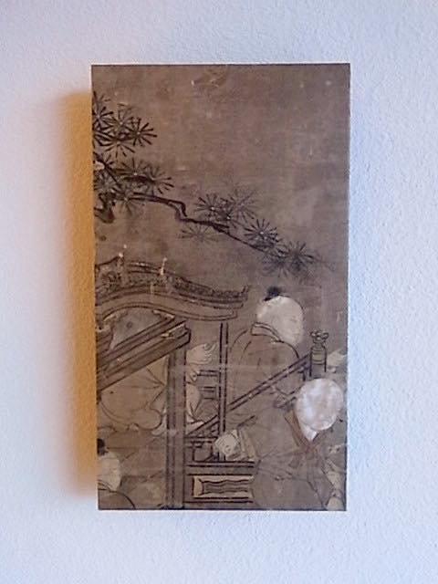 Masaオリジナル時代屏風パネル® 18 121 23 狩野派唐子遊景図