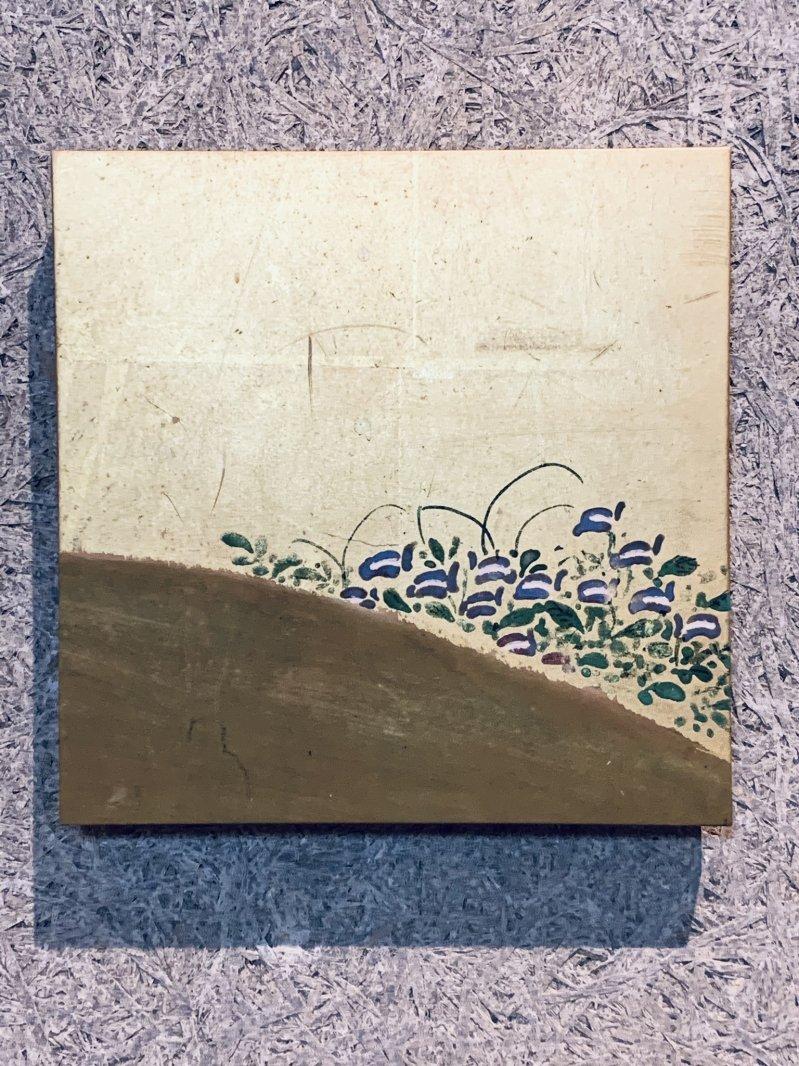 Masaオリジナル時代屏風パネル®19 620 11金地花草図