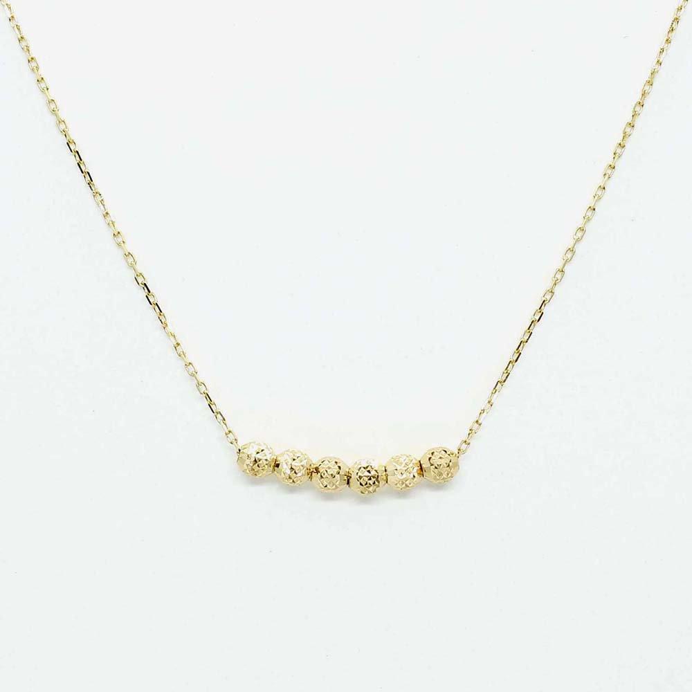 jewelry marlon<br> 6 Dot Chain Neck[S]<br>K18YG<br>
