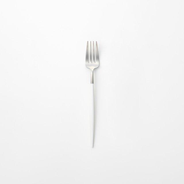 Cutipol GOA ホワイト デザートフォーク SILVER