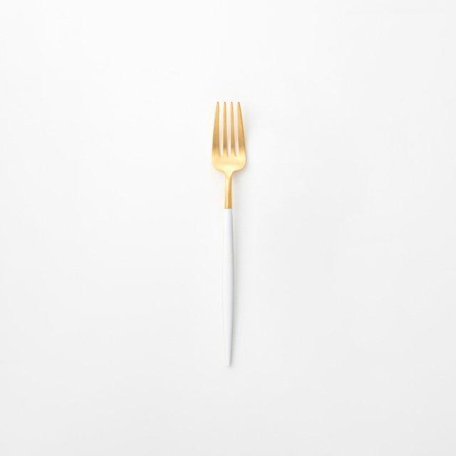 Cutipol GOA ホワイト デザートフォーク GOLD