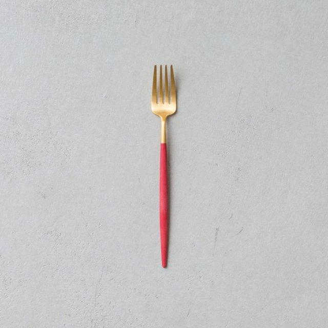 Cutipol GOA レッド デザートフォーク GOLD