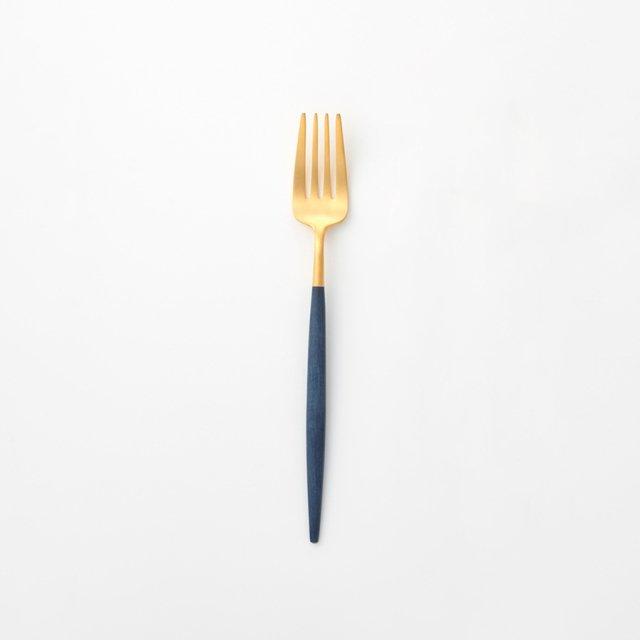 Cutipol GOA ブルー ディナーフォーク GOLD