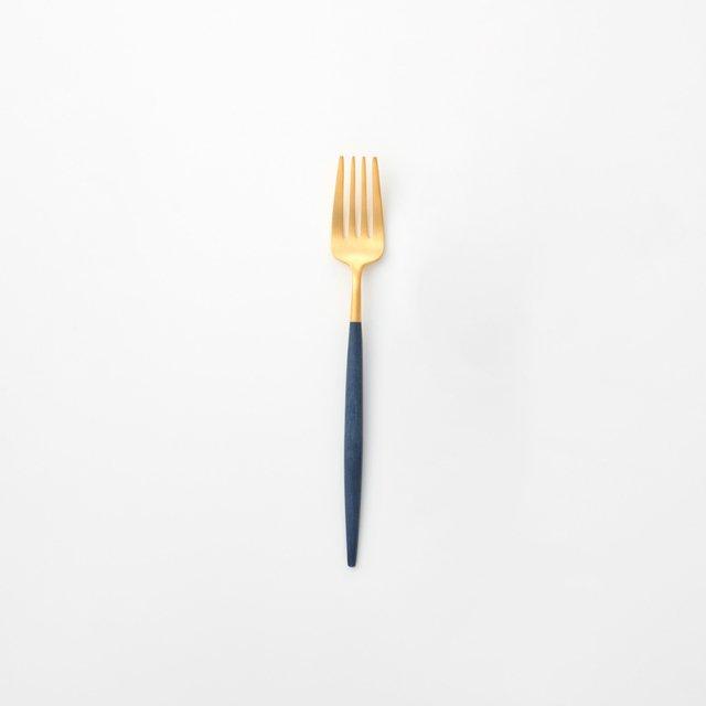 Cutipol GOA ブルー デザートフォーク GOLD