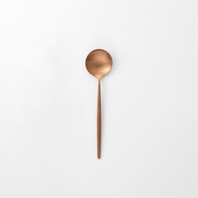 Cutipol MOON デザートスプーン AMBER GOLD