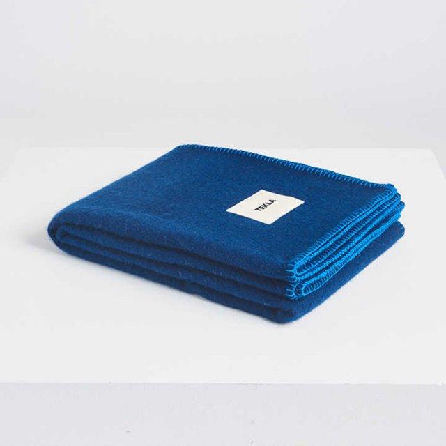 TEKLA ウールブランケット ELECTRIC BLUE