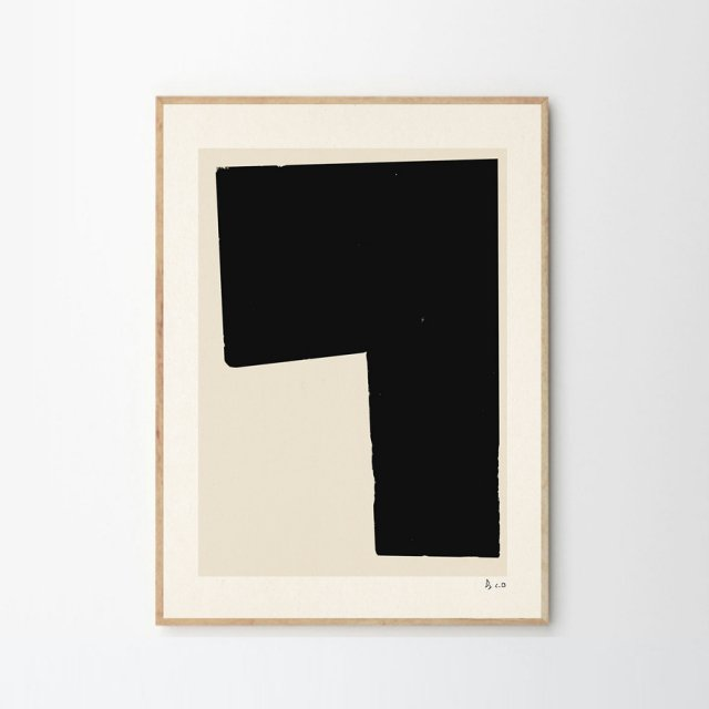 BLACK OBJECT 02 by Carsten Beck (50×70cm)