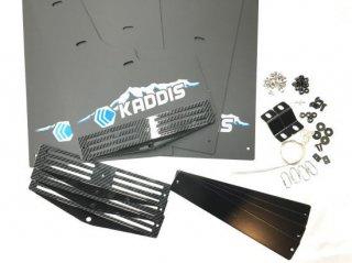 デリカD:5後期型 KADDIS専用マッドフラップPREMIUMブルー CarbonPlate