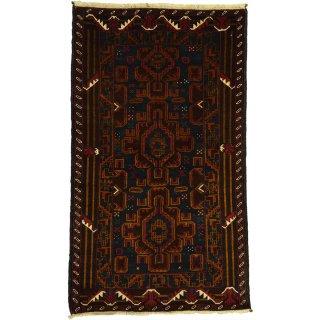 【発送は8/17以降となります】アフガン バルーチ ブルー系 約85×140cm