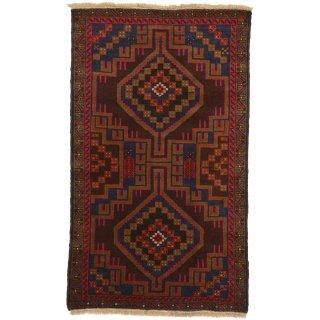 アフガン バルーチ ブラウン系 約85×140cm