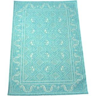 エジプト綿ラグ ナイル 681 ライトブルー