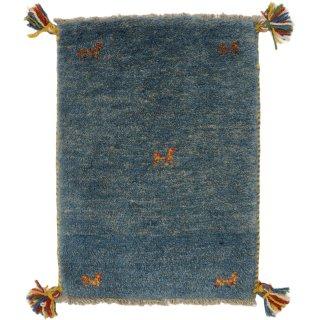 ペルシャンギャッベ 玄関マット40×60サイズ ブルー系 42.4×58.5cm