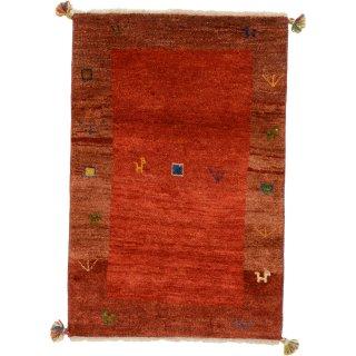 ペルシャンギャッベ 玄関マット80×120サイズ レッド系 78.6×116.6cm
