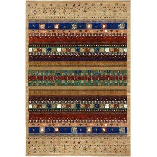 ペルシャン ギャッベ柄 ウィルトン織カーペット 「ロシャン」 155×225cm ベージュ