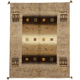 ペルシャンギャッベ ザロニム アクセントラグサイズ ブラウン系 約195×155cm