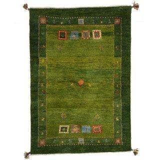 ペルシャンギャッベ ザロニム グリーン系 約150×100cm