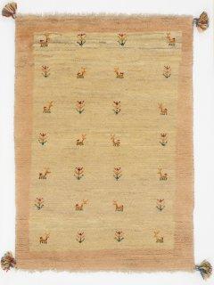 ペルシャンギャッベ ザロチャラク 玄関マット80×120サイズ 79×110cm ベージュ系