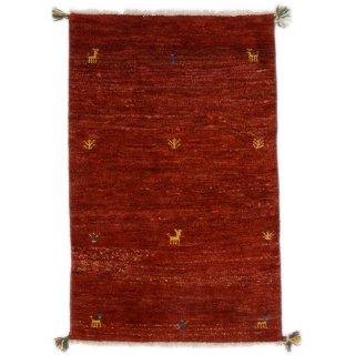 ペルシャンギャッベ ザロチャラク 玄関マット80×120サイズ 79×120cm レッド系
