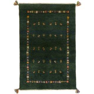 ペルシャンギャッベ ザロチャラク 玄関マット80×120サイズ 78.5×119cm グリーン系