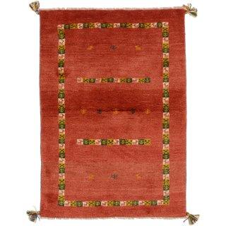 ペルシャンギャッベ ザロチャラク 玄関マット80×120サイズ 83×117cm レッド系