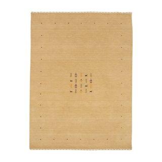 【B品】ハンドメイド インドギャベ「ロリバフ」ベージュ LB-1834BE20 約140×200cm