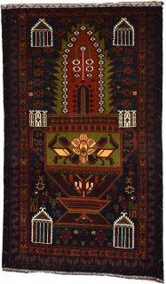 アフガン バルーチ グリーン系 約85×140cm