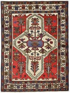 アフガン バルーチ ベージュ系 約85×140cm