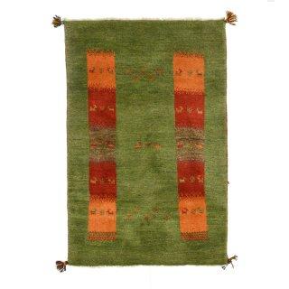 ペルシャンギャッベ ザロニム グリーン系 約135×88cm