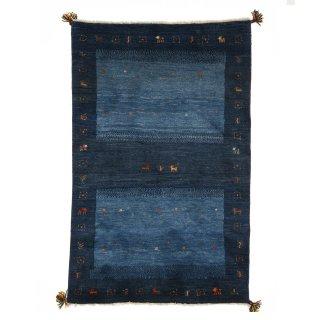 ペルシャンギャッベ ザロニム ブルー系 約152×100cm