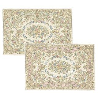 ゴブラン織 玄関マット(レギュラー織)アルル 60×90cm 2枚セット