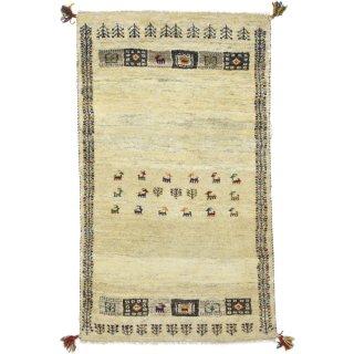 ペルシャンギャッベ ザロチャラク 玄関マット80×120サイズ 81×138.5cm ベージュ系
