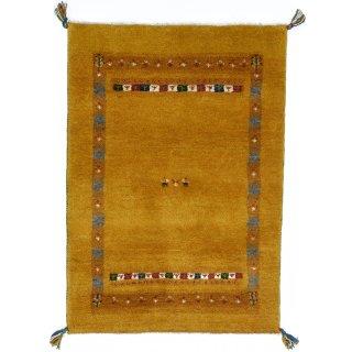 ペルシャンギャッベ ザロチャラク 玄関マット80×120サイズ 84×119cm イエロー系