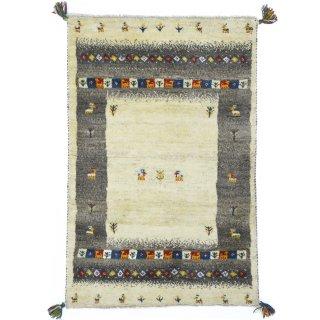 ペルシャンギャッベ ザロチャラク 玄関マット80×120サイズ 80×122.5cm ベージュ系